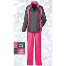 Grey Jacket/Pink Pant Slimming & Sporty Jog Set