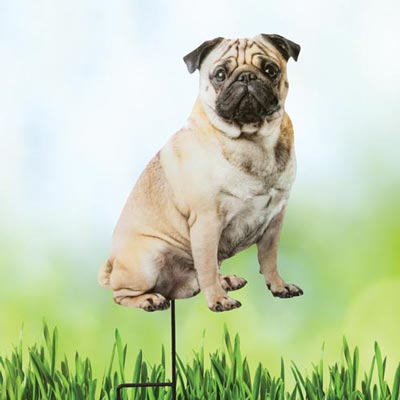 Pug Best Friend Yard Stake