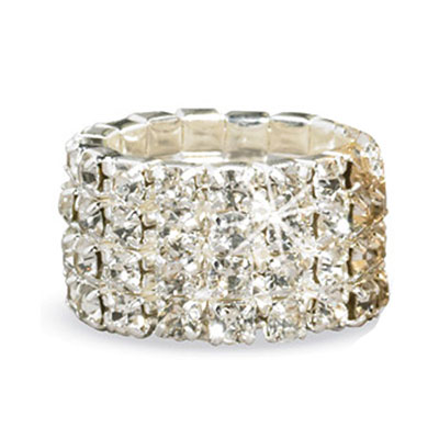 Silver Crystal Stretch Ring