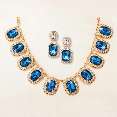 Blue Goddess Jewelry Set