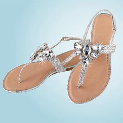 Silver Sparkle Sandals