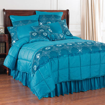 Blue Shimmering Nights Bedding