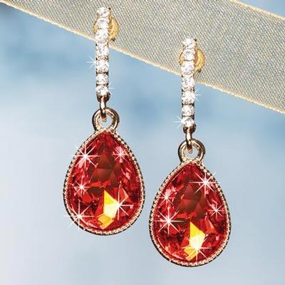 Flame Teardrop Earrings