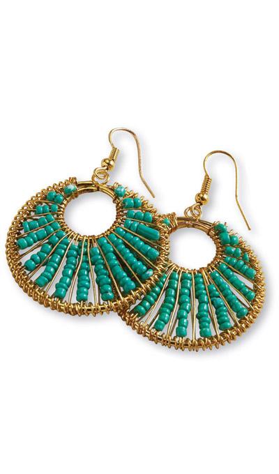 Aztec Hoop Earrings