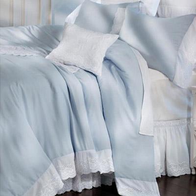 Whisper Blue Royal Lace Duvet Cover