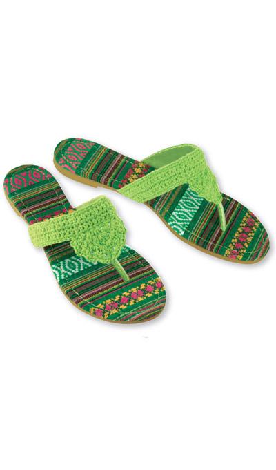 Fiesta Crocheted Sandals