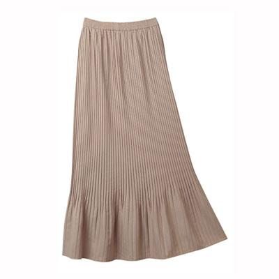 Elegant Pleated Maxi Skirt
