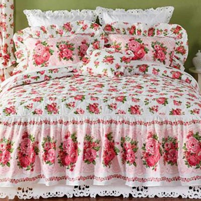 Rose Garden Priscilla Panels with Attached Valance