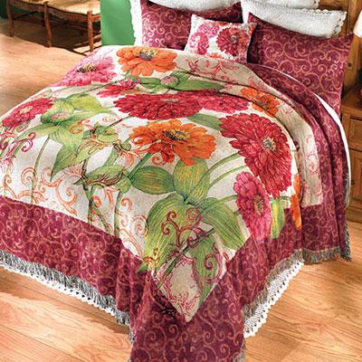 Zinnia Garden Tapestry Sham