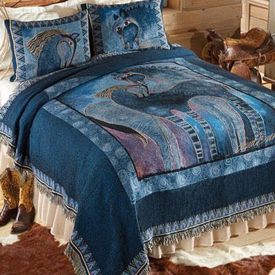 Indigo Mares Tapestry Coverlet & Sham