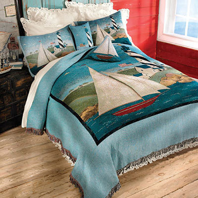 Coastal Breeze Tapestry Coverlet & Accessories