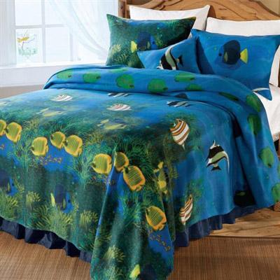Coral Reef Fleece Blanket & Accessories