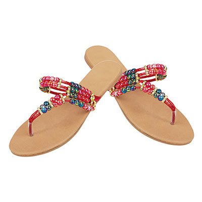 Colourful Bead Sandals