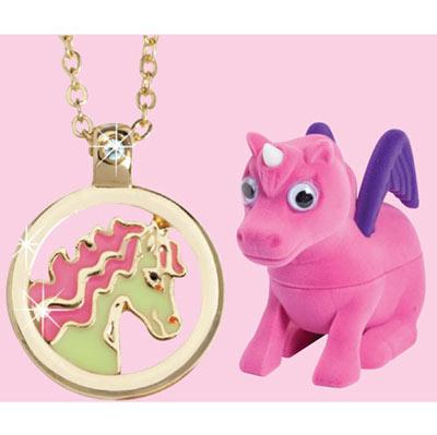 Unicorn Treasure Box with Secret Necklace