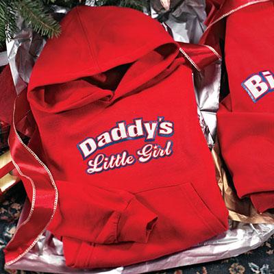 Daddy's Little Girl Youth Hoodie Sweatshirt