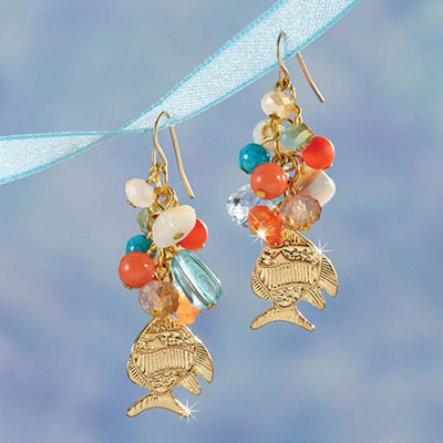 Tropical Fish Beaded Earrings