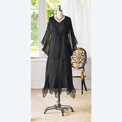 Black Tank Dress & Shrug Set