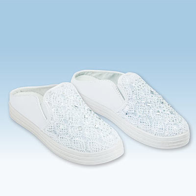 Woven Crystals Slip-On Shoes