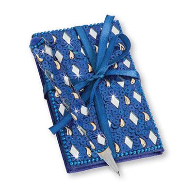 Royal Blue Bejewelled Notebook & Pen Set