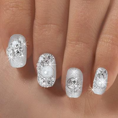 Brilliant Silver Nails