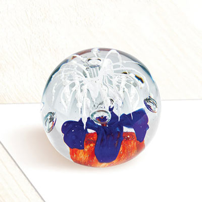 Red, White & Blue Flower Paperweight