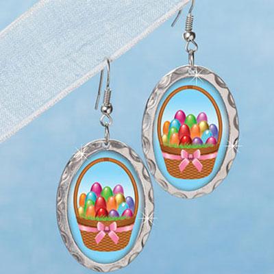 Easter Basket Earrings