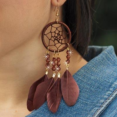 Earth Spirit Dreamcatcher Earrings