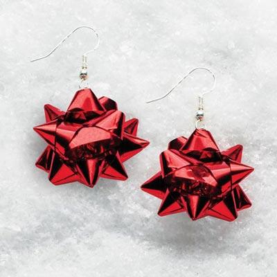 Red Bow Earrings
