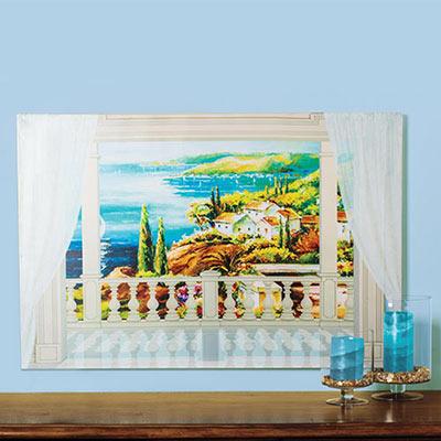 Seaside Villa Canvas