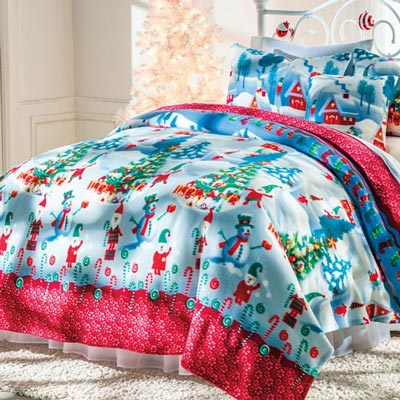 Gnome for the Holidays Fleece Blanket & Accessories
