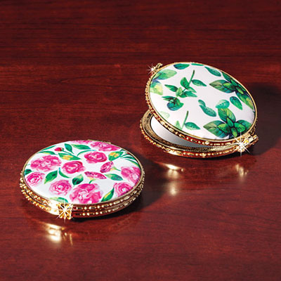 Floral Double Compact