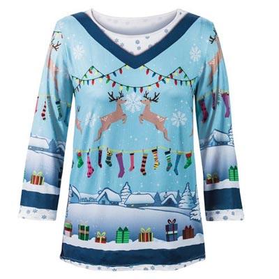 Reindeer Holiday Sweater Tee