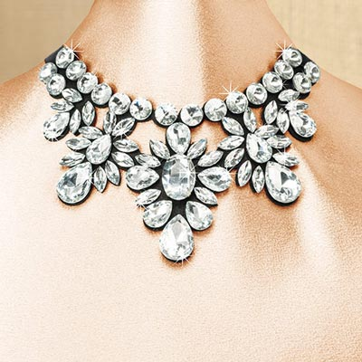 Show Stopper Ribbon Necklace