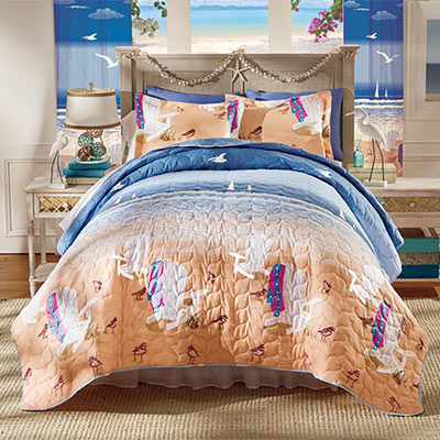 Day at the Beach Quilt Set & Accessories