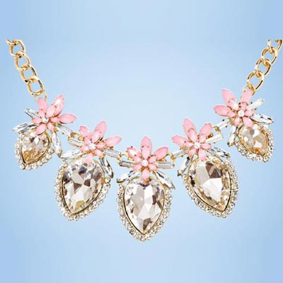 Floral Marquis Necklace