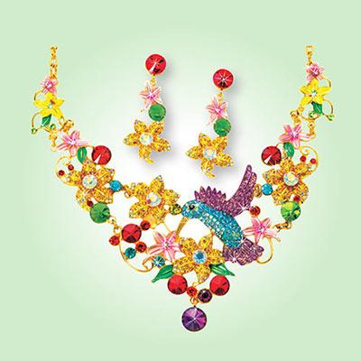 Hummingbling Jewelry Set
