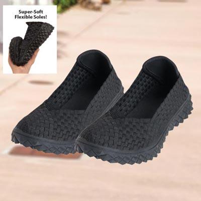 Comfy Woven Black Shoes