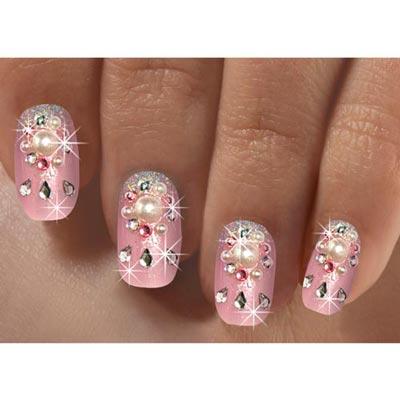Pink Bling Acrylic Nails