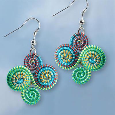 Woven Swirl Earrings