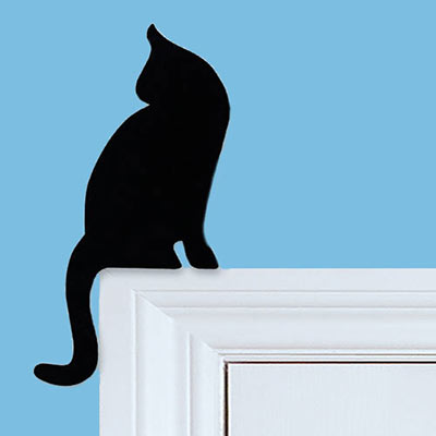 Paw-some Kitty Door Decal