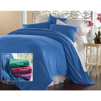 Solid Fleece Blankets & Accessories