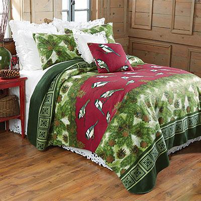 Chickadee Fleece Blanket & Accessories