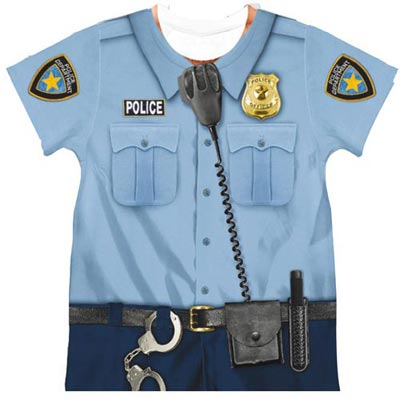 Policeman Role Model Tee for Toddler