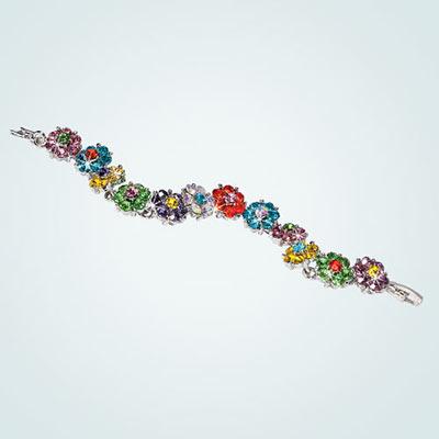 Multicolour Flower Bracelet