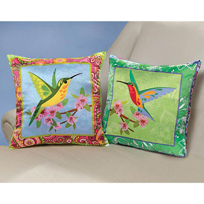 Vibrant Hummingbird Pillow Covers