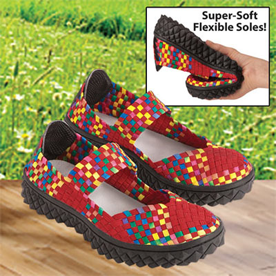 Comfy Woven Mary Janes