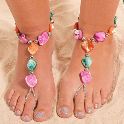 Colourful Splash Barefoot Sandal