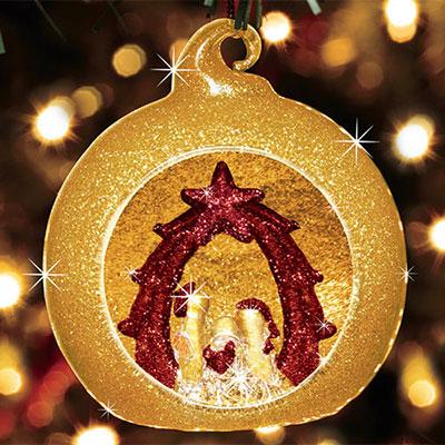 Handblown Nativity Ornament