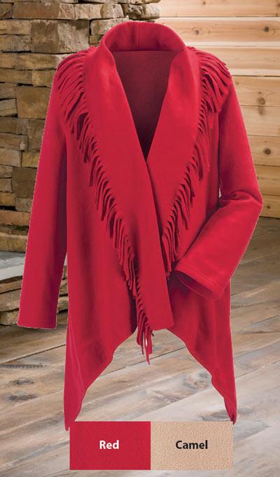 Fringe Fleece Jacket