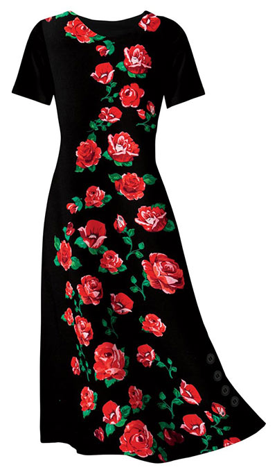 Garden of Red Roses Dress